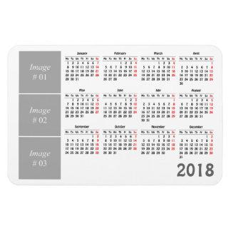 Create your own 2018 calendar magnet
