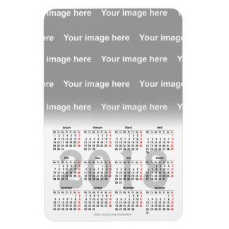 Create your own  2018 calendar Premium Magnet