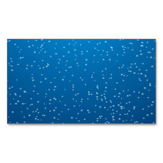 Create Your Own Blue Water Bubbles Magnetic Business Cards