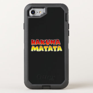 Create your own Colorful Hakuna Matata Electronics OtterBox Defender iPhone 7 Case