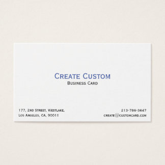 Create Your Own Custom Personalized Professional Business Card