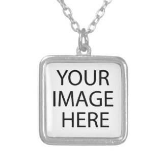 Create your own design & text :-) silver plated necklace