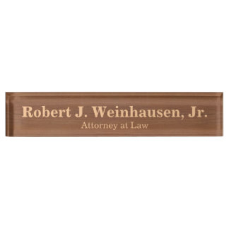 Create Your Own Faux Wood Grain Formal Nameplate