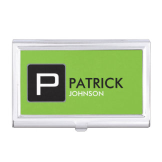 create your own green, attractive and modern business card holder