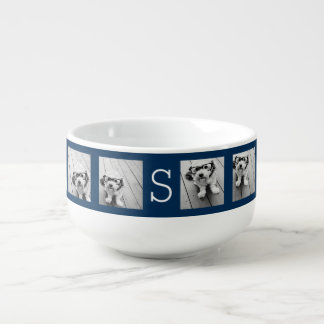 Create Your Own Instagram Collage Custom Monogram Soup Mug