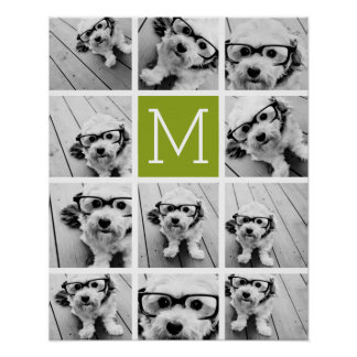 Create Your Own Instagram Photo Collage Lime Poster