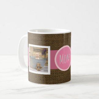 Create Your Own Mom | Mother's Day Rustic 2 Photos Coffee Mug