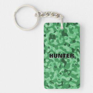 Create Your Own Name Green Hunter Camouflage Key Ring