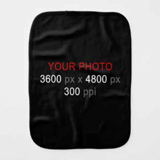 Create Your Own Photo Custom Baby Burp Cloth