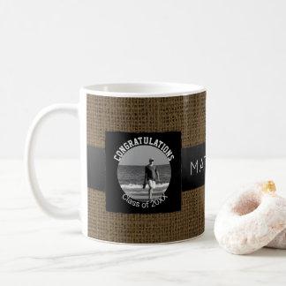 Create Your Own Rustic Graduation | Monogram Photo Coffee Mug