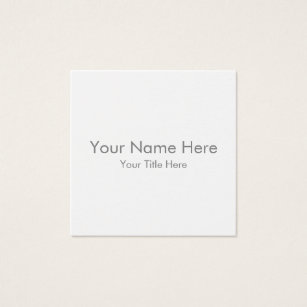 Business cards business card printing zazzle nz create your own square business card reheart Gallery