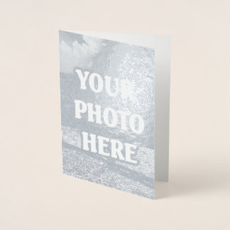 Create your own unique one of a kind personalised foil card