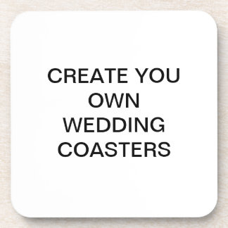 Create Your Own Wedding Coaters Drink Coasters