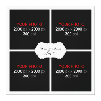 Create Your Own Wedding Photo Collage 003 Canvas Print