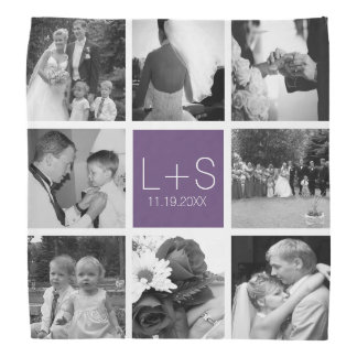 Create Your Own Wedding Photo Collage Monogram Do-rags