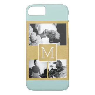 Create Your Own Wedding Photo Collage Monogram iPhone 8/7 Case