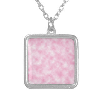 Created Pink Clouds Design Square Pendant Necklace