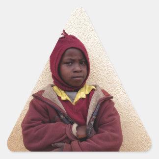 Creating Master Teachers: Abraham Maasai Student Triangle Stickers