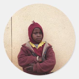 Creating Master Teachers: Abraham Maasai Student Round Sticker