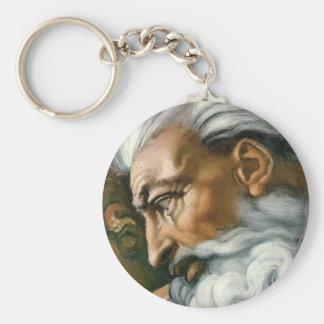 Creation of Adam (detail) Key Ring