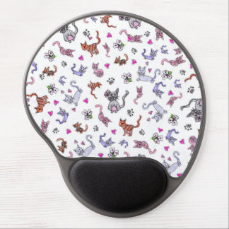 Creative Cats - A Colorful Pet-Lovers Pattern Gel Mouse Pad
