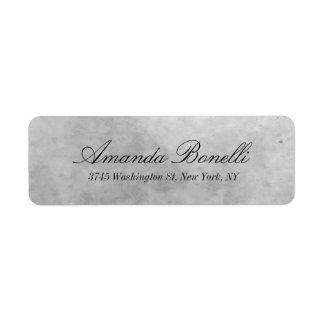 Creative Handwriting Simple Elegant Modern Grey Return Address Label
