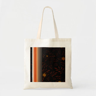 Creative light orange blossom and floral canvas bags