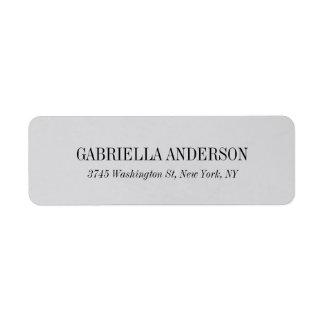 Creative Simple Elegant Modern Silver Grey Return Address Label