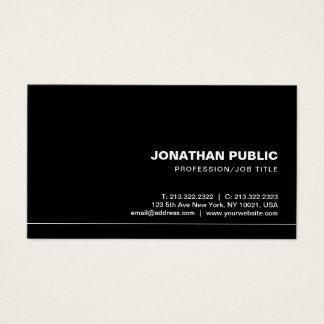 Creative Trendy Professional Elegant Black Plain Business Card