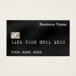 Credit Card style BUSINESS CARD (2-sided) black