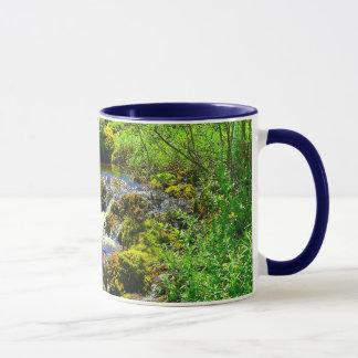 Creek Waterfall Ringer Mug