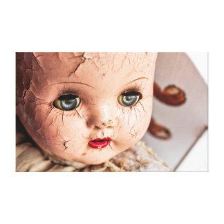 creepy baby canvas