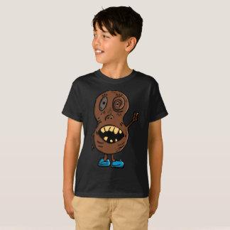 Creepy Brown Peanut Psycho Blue Shoes Kids T-Shirt