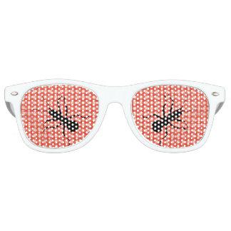 Creepy Crawly Marching Black Ant Plaid Tablecloth Retro Sunglasses