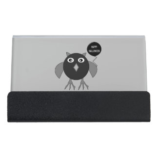 Creepy Halloween Party Owl Business card Holder