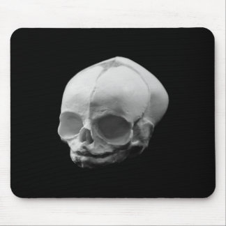 Creepy Infant Skull Goth Mousepad
