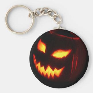 Creepy Jack o lantern pumpkin Key Ring