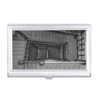 Crescent Stairwell Grayscale Case For Business Cards