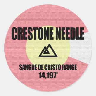 Crestone Needle Classic Round Sticker