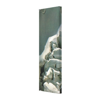 Crevasses on the mountains tops canvas print