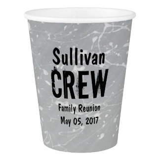 CREW | Group or Family Name | Family Reunion Paper Cup