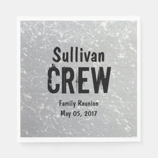 CREW | Group or Family Name | Family Reunion Paper Serviettes