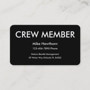 Crew business cards zazzle nz crew member business cards reheart Choice Image