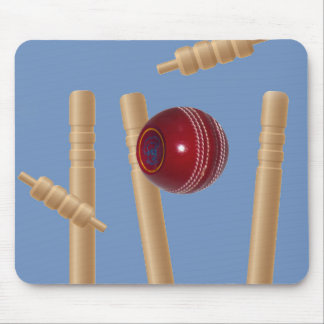 Cricket Ball And Stumps, Mouse Pad