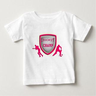 cricket champ_pink.png baby T-Shirt