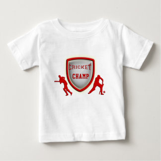 cricket champ_red.png baby T-Shirt