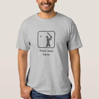 Cricket Player Grey Logo -- Customizable T-shirt