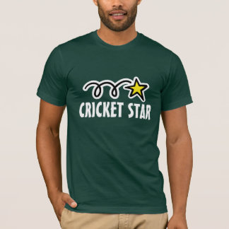 Cricket t-shirt with cool slogan and star