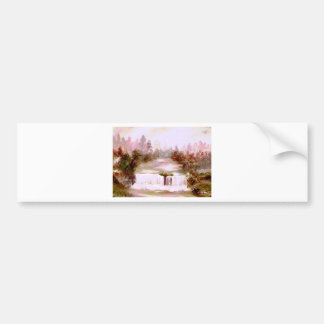 Cricket Waterfalls Romantic Waterfall Landscapes Bumper Sticker