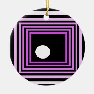 cricketdiane grey square strange funk christmas ornament